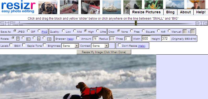 resizr - edite fotos ou imagens