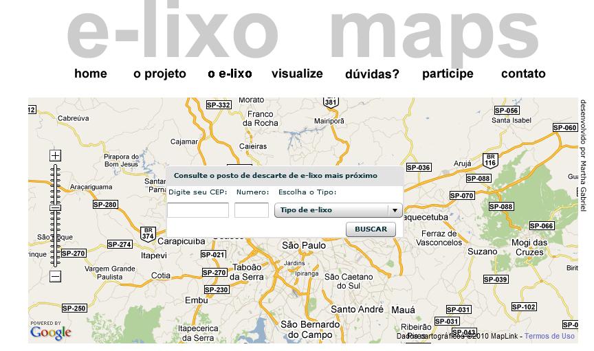 e-lixo maps