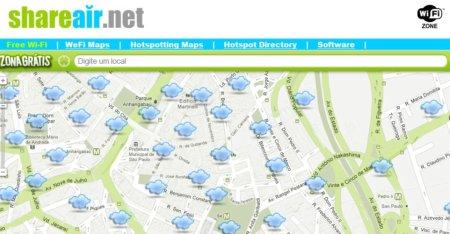Encontre locais com wi-fi gratuito