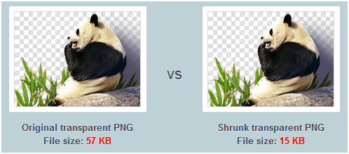 Reduza imagens PNG