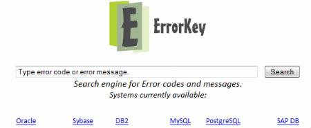 códigos e mensagens de erro