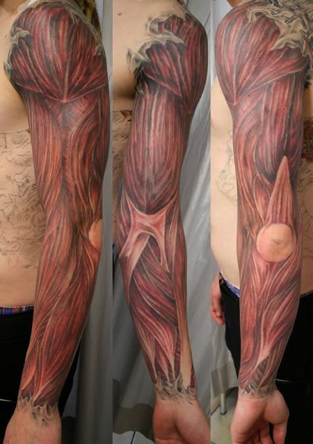 tatuagens anatômicas incríveis