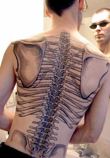 tatuagens incríveis anatômicas