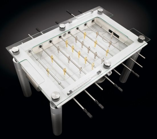 Minimalist foosball table