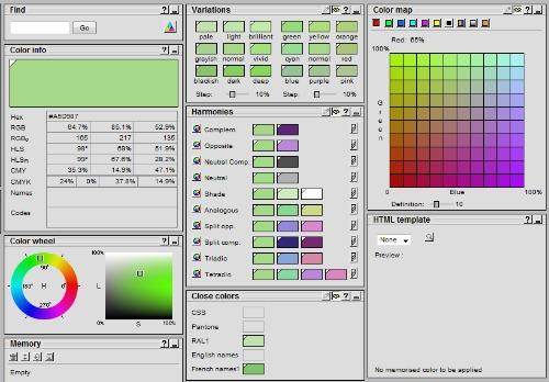 colordb - tabela de cores online