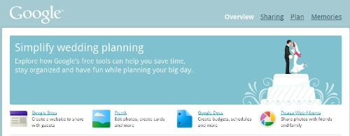 google wedding planning
