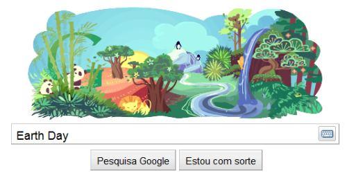 google homenagem earth day