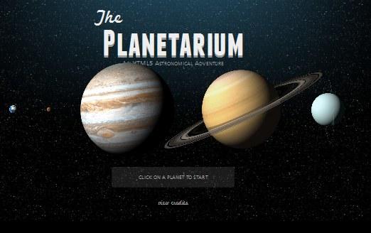 The Planetarium HTML5