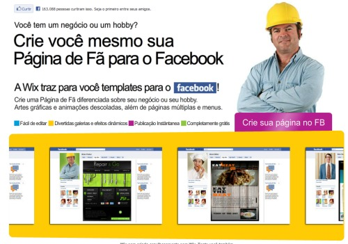 fan page no Facebook