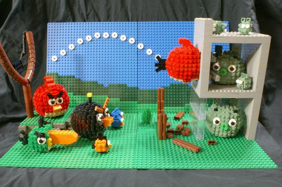 Angry Birds Display Lego