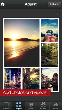 Combine fotos e vídeos