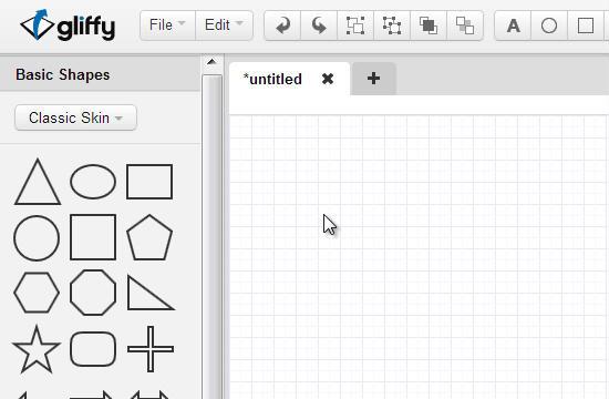 Crie diagramas e fluxogramas